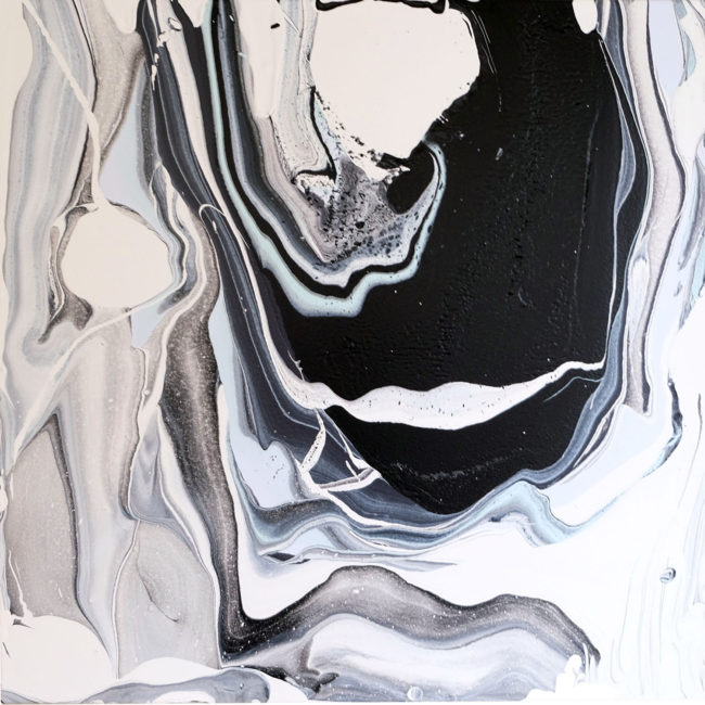 Oyster on Halfshell II diptych painting by Caitlin Wheeler Art