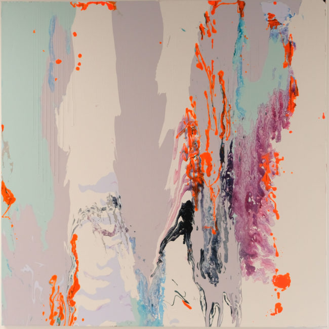Wanna Fanta is a large scale abstract painting by Caitlin Wheeler art in Washington DC